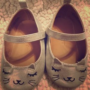 Other - Cute  silver Toddler shoes size 12-18 months.